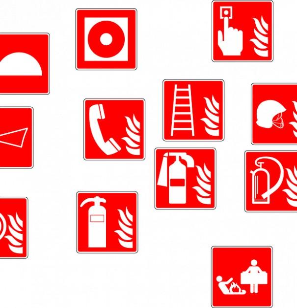 Brandslackare Brand Vattenspridningsanlaggningar Symboler 121 Brandskydd